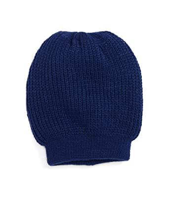 fb320f6246a FREE PEOPLE Ribbed Knitted Navy Women s One Polar Cap Beanie Blue One Size  at Amazon Women s Clothing store