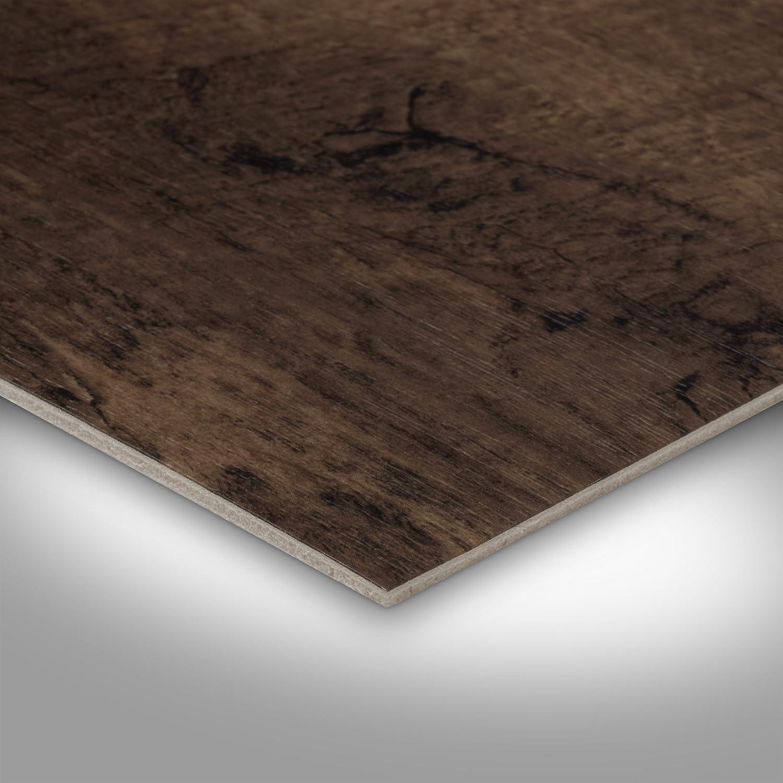300 Holzoptik Diele Eiche dunkel-braun 400 cm breit BODENMEISTER BM70518 Vinylboden PVC Bodenbelag Meterware 200