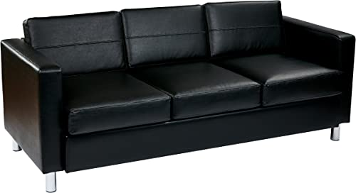 OSP Home Furnishings Pacific Vinyl Sofa Couch