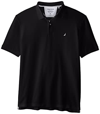 Nautica Mens Short Sleeve Solid Deck Polo, True Black, XXX-Large ...
