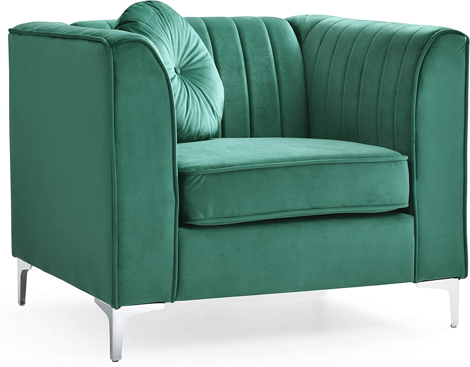 Glory Furniture Delray Chair, Green. Living Room Furniture, 1 Seater