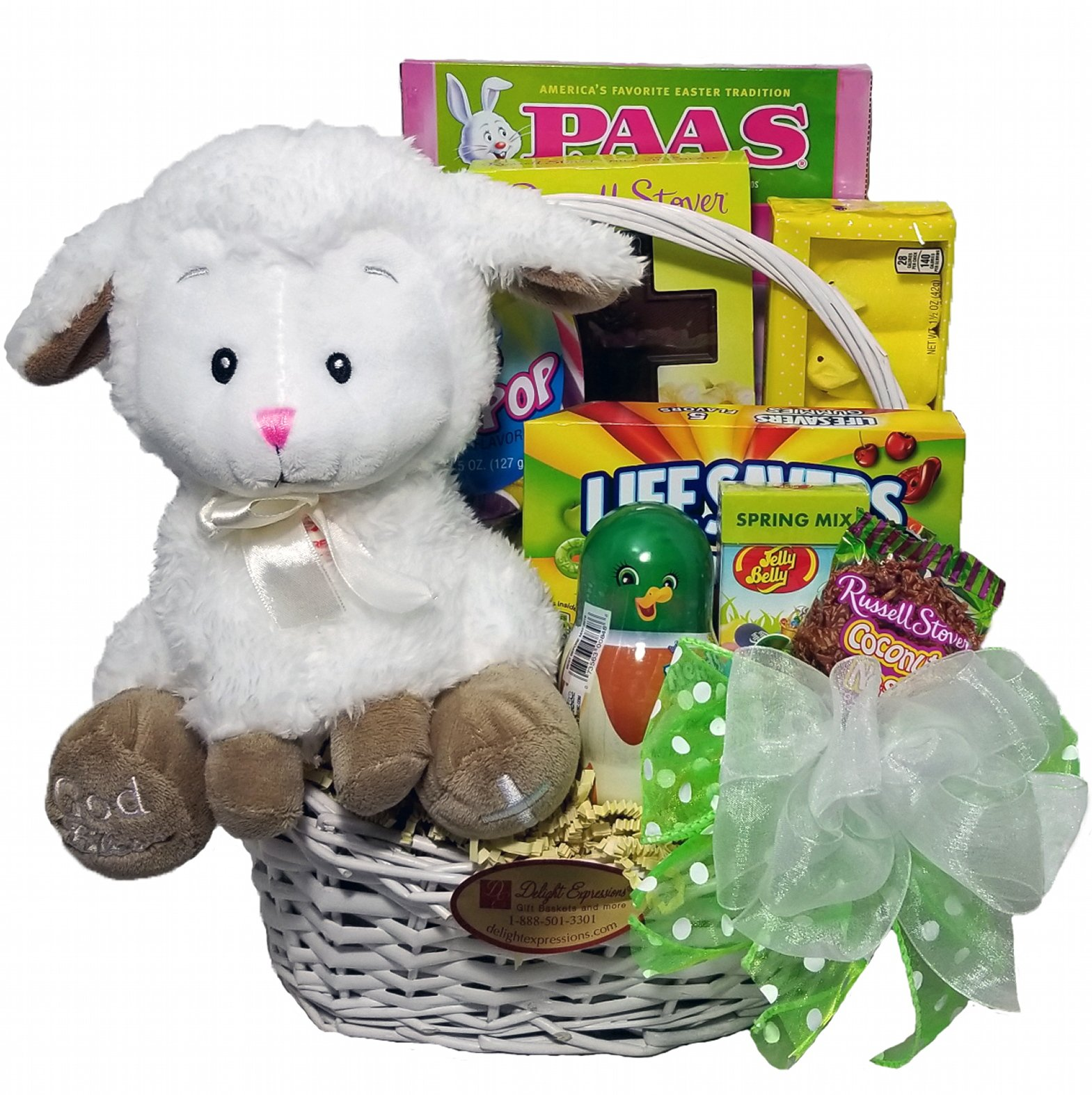 Amazon delight expressions easter bunny easter gift basket delight expressions little lamb easter gift basket chocolate and candy easter basket for negle Images