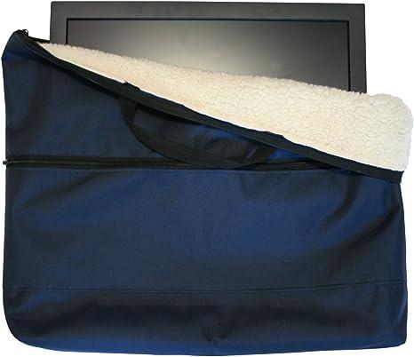 Funda de almacenamiento y transporte, con forro polar para televisor o monitor de 22 pulgadas. Color azul: Amazon.es: Informática