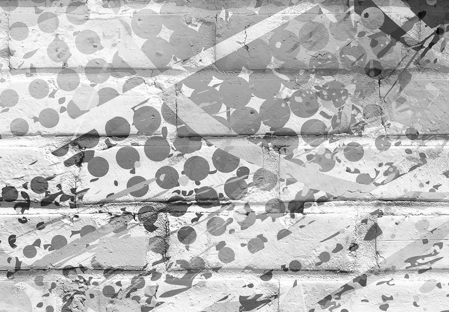 Fu/ßball Ziegel Graffiti Kindertapete Kinderzimmer Kinder i-B-0044-a-a murando Fototapete selbstklebend Fussball 294x210 cm decor Tapeten Wandtapete klebend Klebefolie Dekofolie Tapetenfolie