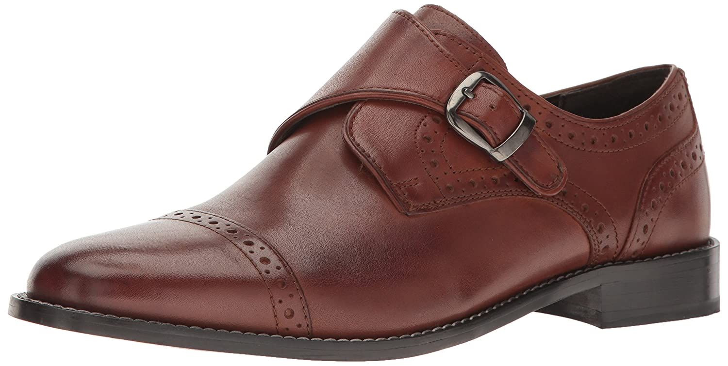 Nunn Bush Newton Mens Monk Strap Oxford Cognac 8.5 M US