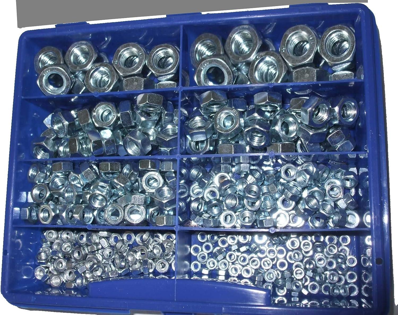 500 Hutmuttern DIN 1587 Kl 6 verzinkt M10