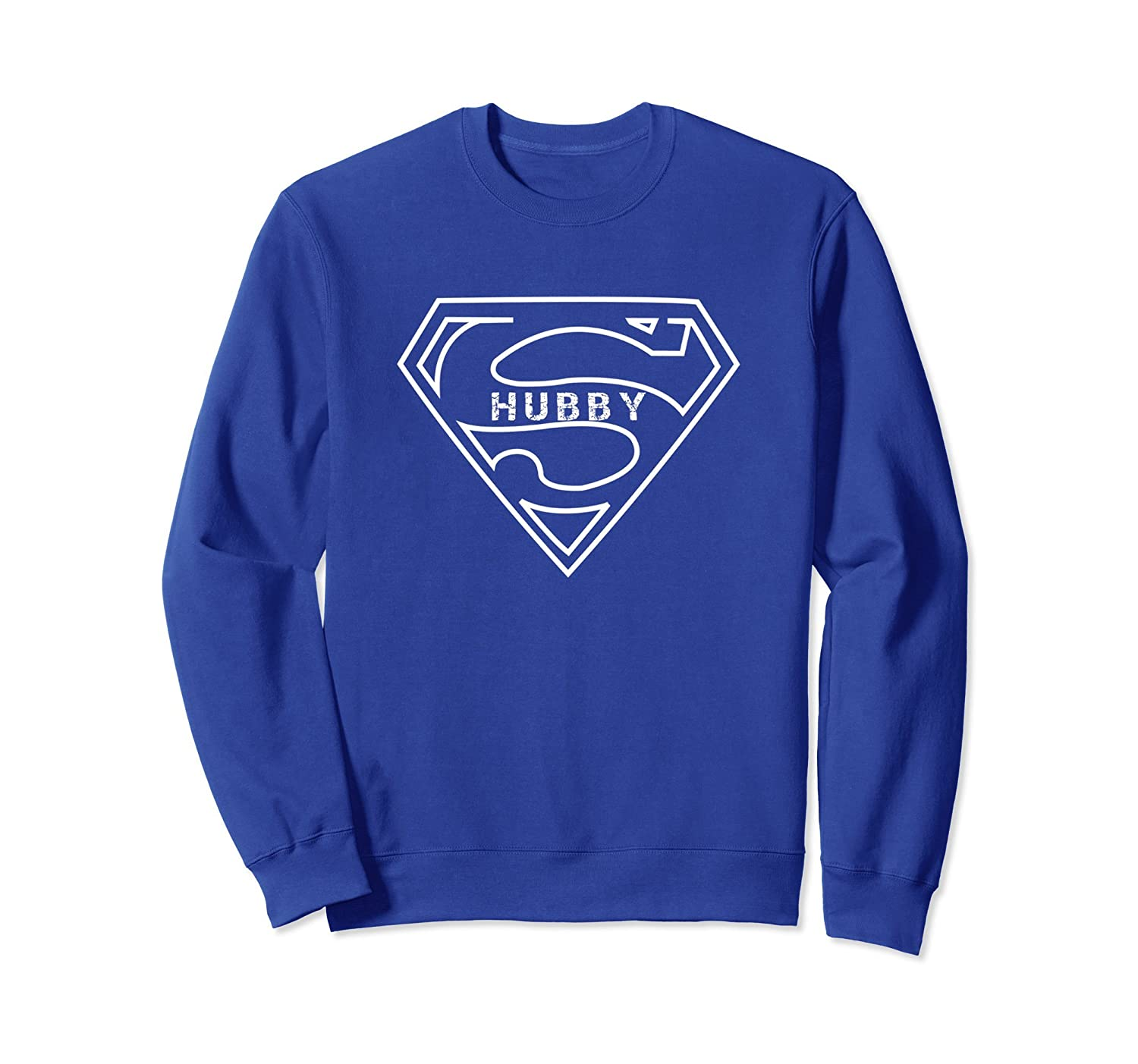 09ad8482 Super Hubby Sweatshirt Funny for Husband Dad Fathers Day-alottee gift