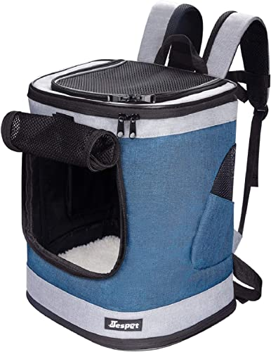 JESPET Pet Backpack Carrier for Small Dog, Puppy, Soft Carrier Backpack Ideal for Traveling, Hiking, Walking and Outdoor Activities with Family