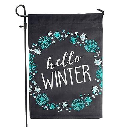Ordinaire Second East Hello Winter Garden Flag Outdoor Patio Seasonal Holiday Fabric  12u0026quot; ...