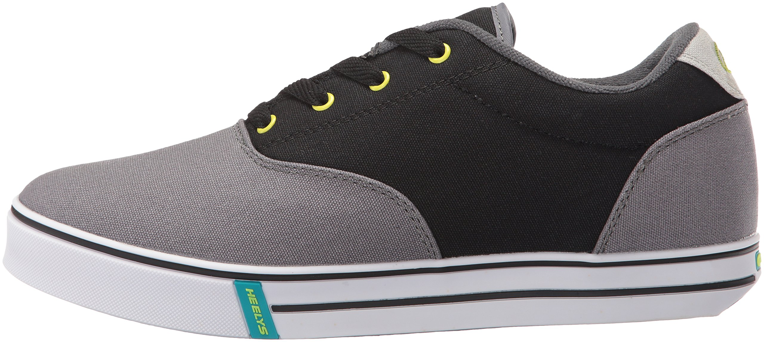 Heelys Men's Launch Fashion Sneaker Charcoal/Black/Lime 10 M US by Heelys (Image #5)