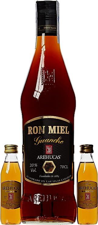 Guanche Arehucas - Ron Miel 70 cl 20º y 2 Ron Arehucas ...