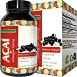 Acai Berry Detox Weight Loss Supplements Antioxidant Superfood Increase Energy Heart Health Burn Belly Fat Immune System Booster Skin Care Anti-Aging Improve Clarity Libido by California Products