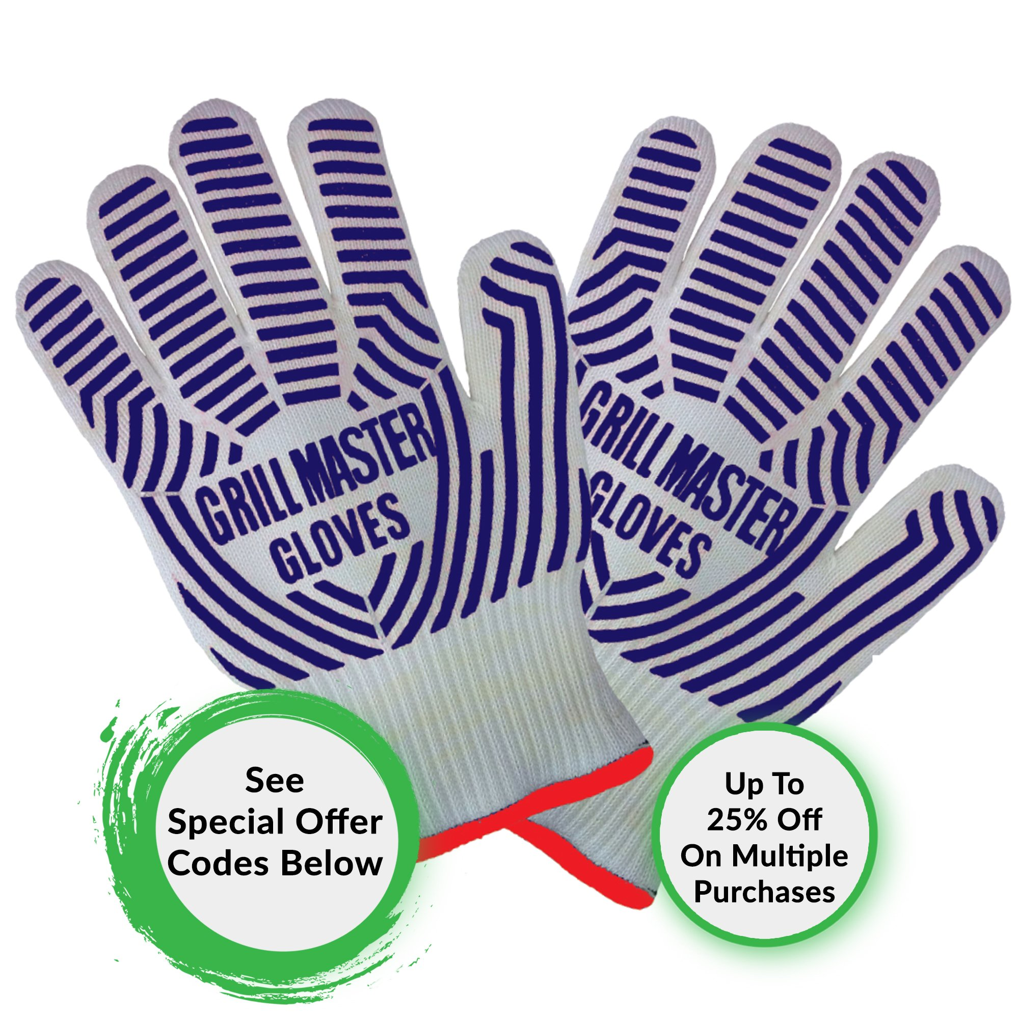 Grill Gloves Heat Resistant Extreme BBQ Gloves Oven Gloves Rated to 932f - Ideal Grilling Gloves by Grill Master (Black) by Grill Master Gloves (Image #7)