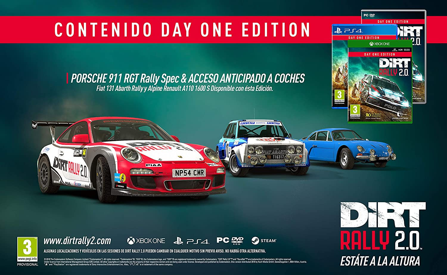 Codemasters - DiRT Rally 2.0 Day One Edition (Xbox One): Amazon.es: Videojuegos
