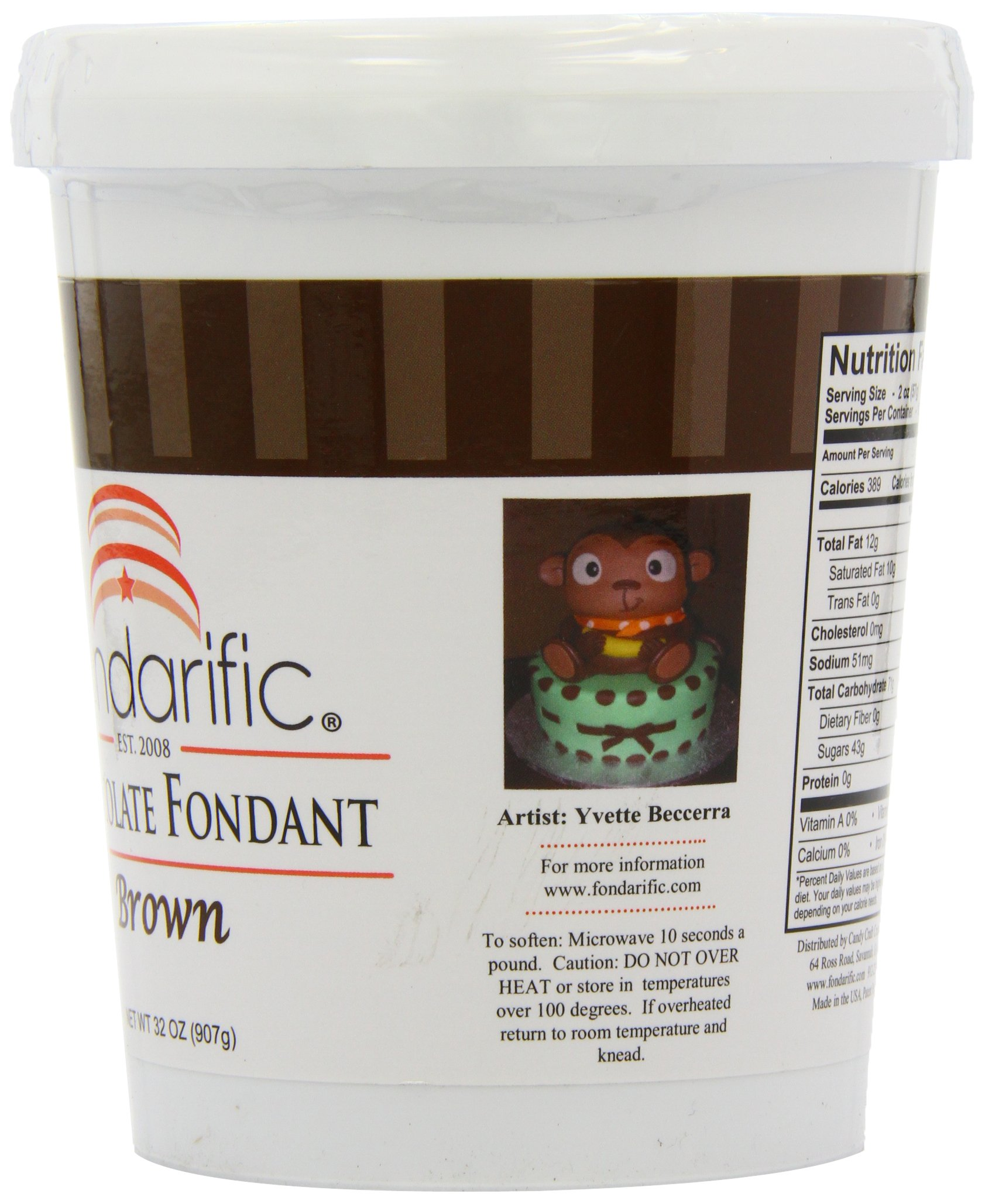 Fondarific Chocolate Fondant Brown, 2-Pounds by Fondarific (Image #5)