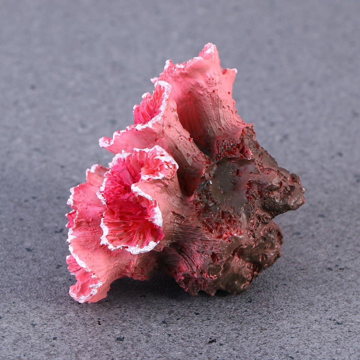 UEETEK Simulazione artificiale corallo acquario piante subacquee Fish Tank Decorazione Rosso