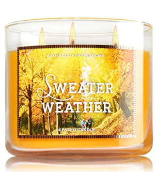 Amazoncom Bath And Body Works Sweater Weather Candle 145 Oz