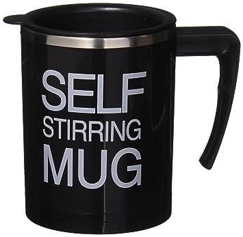 oliadesign self stirring coffee mug black