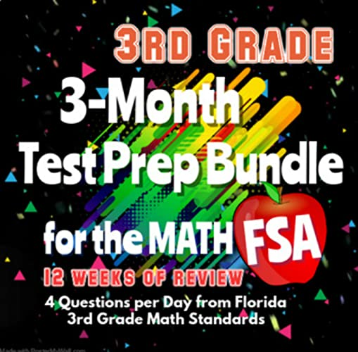 This Bundle Is A Series Of Three Packets That Are Designed To Keep Students  Reviewing And Prepping For The Florida FSA (or Other Common Core-based  End-of-year Assessment) From January Through March. Each Packet Has 4 Weeks  Of Practice Problems, 4