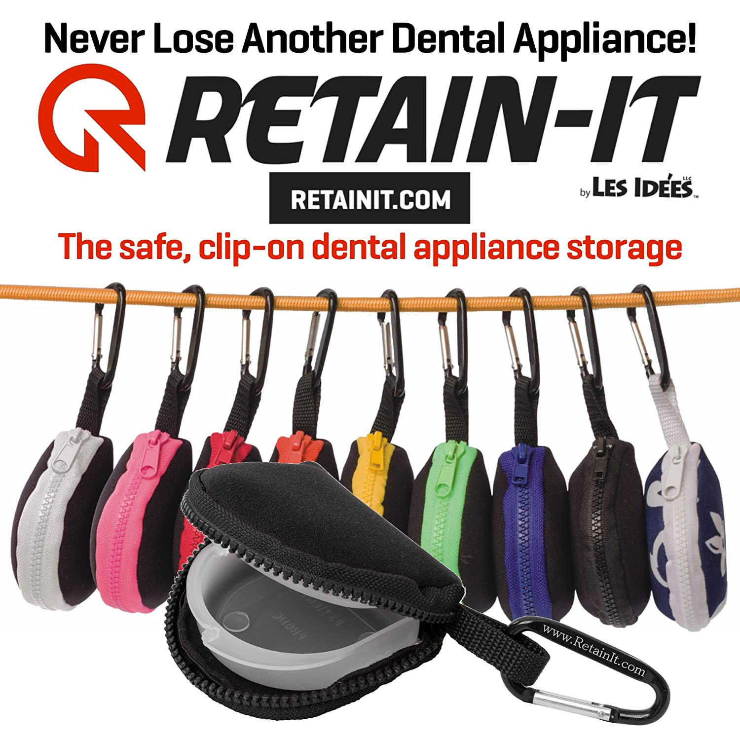 Amazon.com : Mouthguard Storage Case By Retain It   Safe And Clip On    Works With Retainers And Other Dental Appliance Storage, Black : Sports U0026  Outdoors