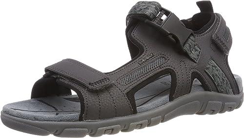 GEOX, Strada Outdoorsandalen, schwarz Schuhe Herren Sandalen