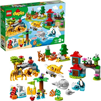 LEGO DUPLO Town - Animales del Mundo, Juguete de construcción ...