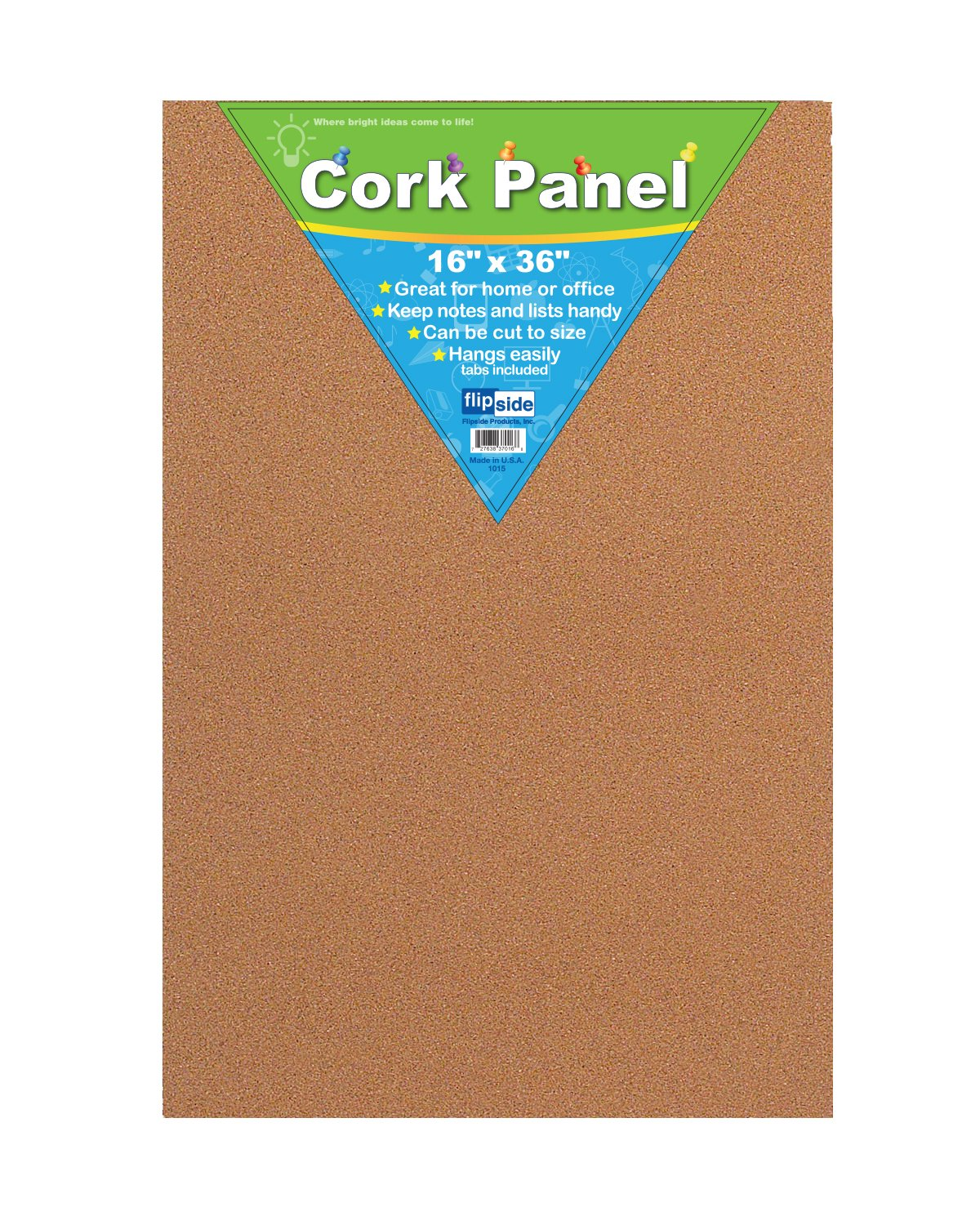 Frameless Light Brown Cork Bulletin Board - Great for The Classroom, Home, and Office - 16'' x 1.5'' x 36'', Pack of 3 Boards