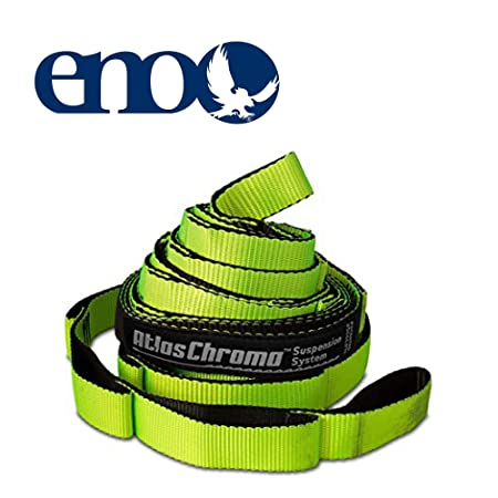 ENO – Eagles Nest Outfitters Atlas Chroma Hammock Straps, Suspension System, Neon Black