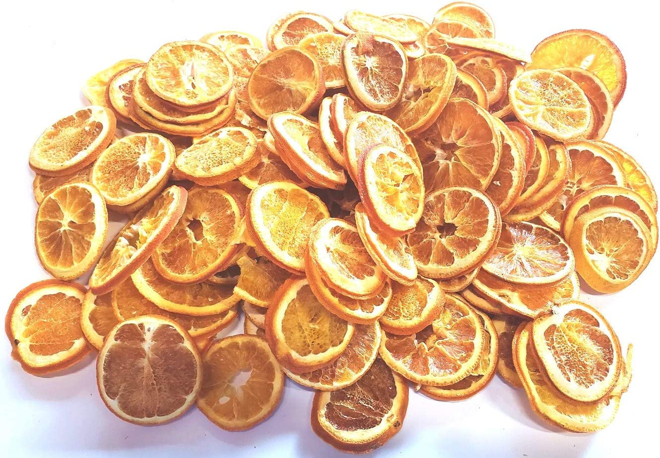 AM Trader Large 1LB Bag of Dried Orange Slices - Perfect for Potpourri Or Table Scatters - Not for Human Consumption