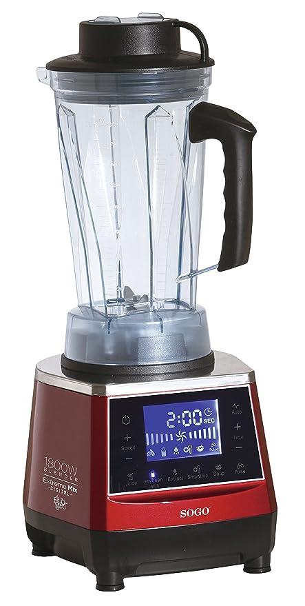 Batidora Digital de uso Profesional y alta potencia (1.800W), jarra de 2