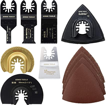 Triangle sanding pad Tiles Stone Blades Replacement Accessory Multi tool