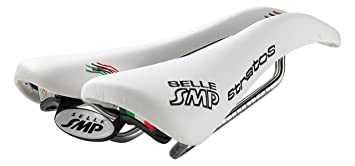 Selle SMP Stratos - Sillín de Bicicleta de Carretera, Color Blanco