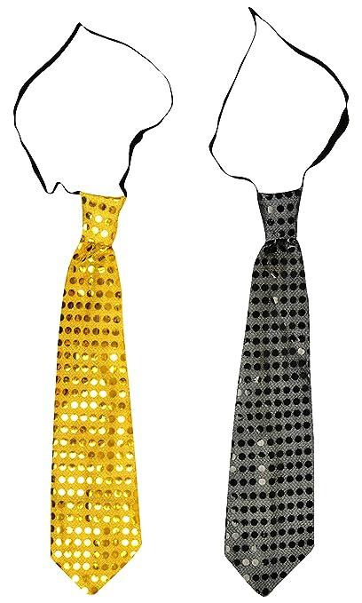 196617e40951 Buy Noor Enterprises Led Tie, Set of 2, Yellow & Black (33 cm x 8 cm x 1 cm  ) Online at Low Prices in India - Amazon.in