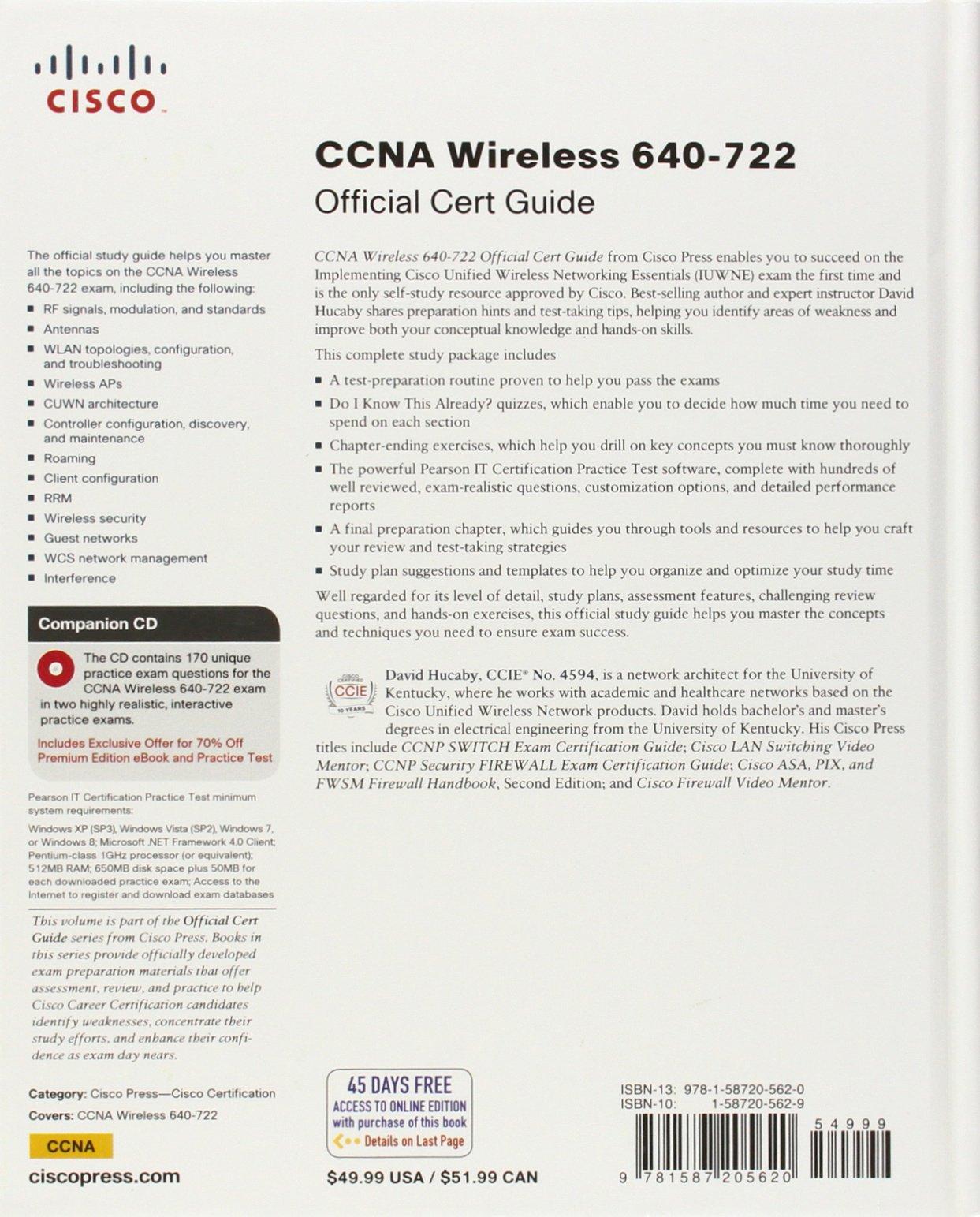 Ccna Wireless 640 722 Official Cert Guide Amazon David