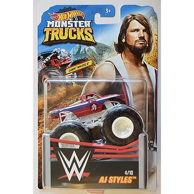 HOT Wheels Monster Trucks 1:64 Scale AJ Styles 4/10 Giant Wheels: Toys & Games
