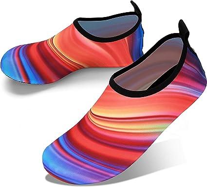 JOTO Water Shoes Chaussons Aquatiques Homme Femme Enfant Chaussures de Plage de Mer de Piscine Sandales Plastiques Anti Sable Antid/érapant S/èche Vite /à Utiliser dans l/'Eau sur la Plage ou Yoga