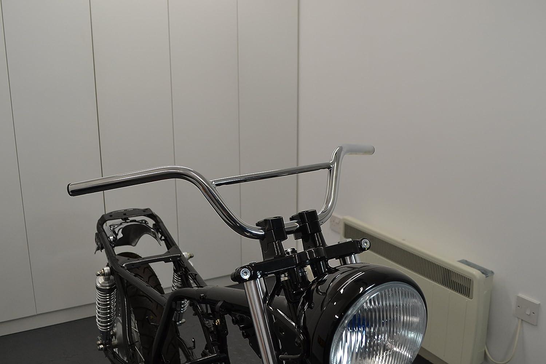 22mm 7//8 With 4.5 Erh/öhung Chrom Motorrad Lenker f/ür Monkey Bike Pit Bike Scrambler