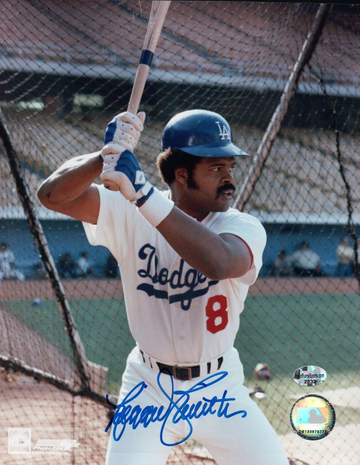 Reggie Smith Signed 8X10 Photo Autograph LA Dodgers Batting Cage Auto COA