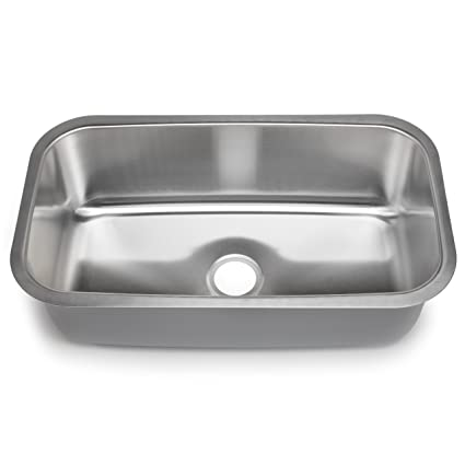 Hahn Chef Series SS012 31.5-Inch Undermount Single Bowl, X-Large ...