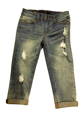 d3a496e6bff Amazon.com  Joe s Jeans Girl s Easy Crop Distressed Jeans - Chelsea ...
