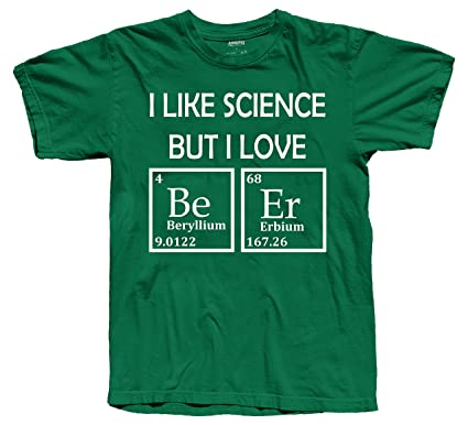 Amazon i like science but i love beer funny periodic table of amazon i like science but i love beer funny periodic table of elements novelty t shirt small green clothing urtaz Images