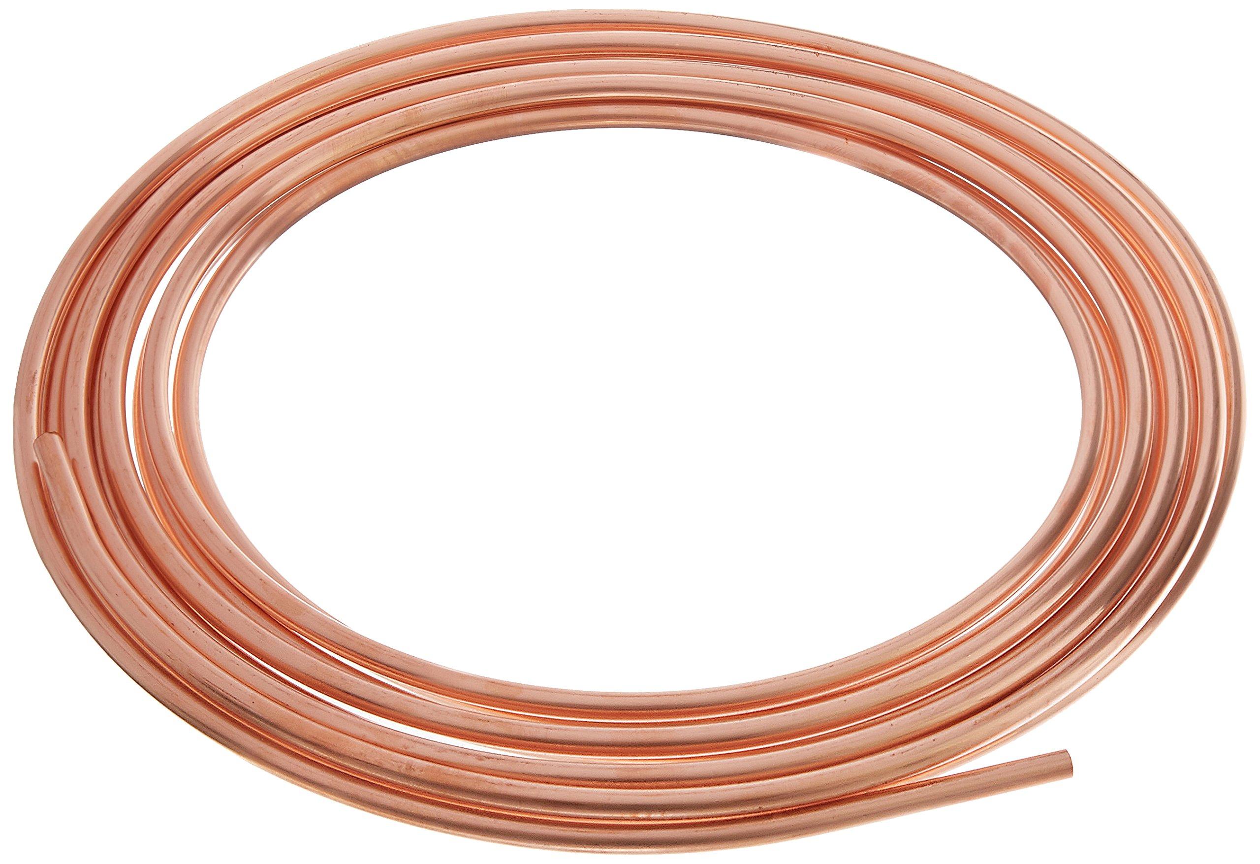 Homewerks Worldwide llc cu04020 1/4'' O.D. x 20', Utility Grade, Copper Tube