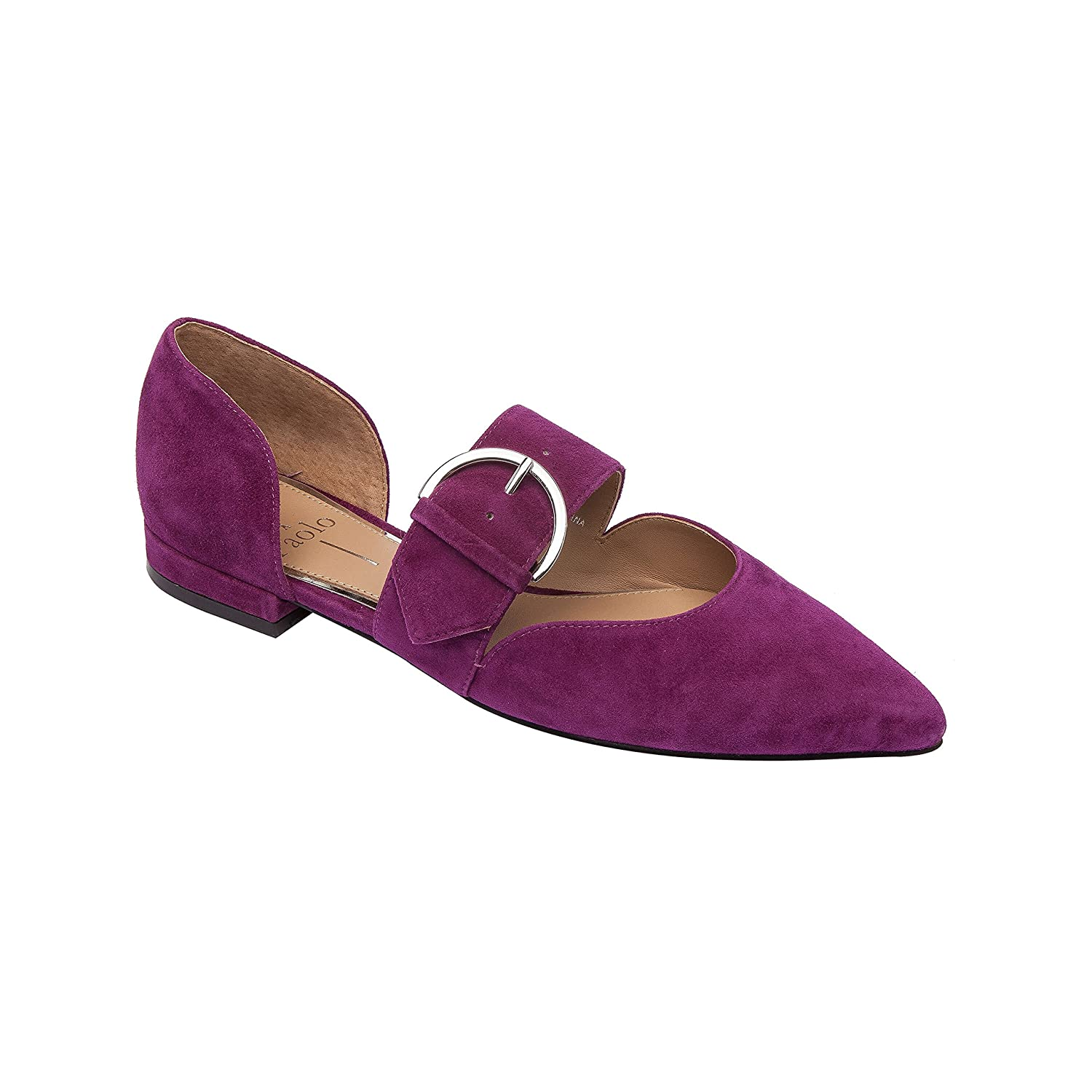 Dean | Women's Two Piece Pointy Toe Comfortable Leather or Suede Ballet Flat B07DM9FMQ7 9 M US|Purple Suede