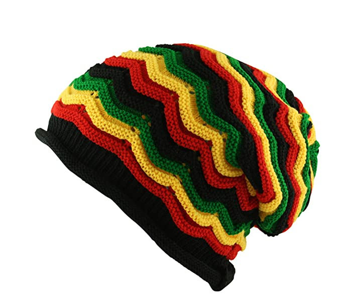 6a66fe3167ef8 Image Unavailable. Image not available for. Color: UD Accessories Itzu  Oversized Slouch Rasta Beanie ...