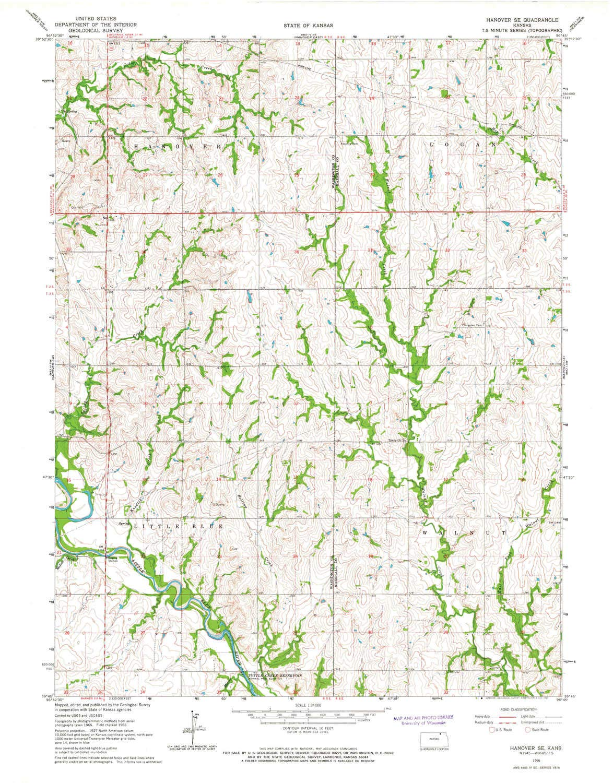 Amazon Com Yellowmaps Hanover Se Ks Topo Map 1 24000 Scale 7 5 X