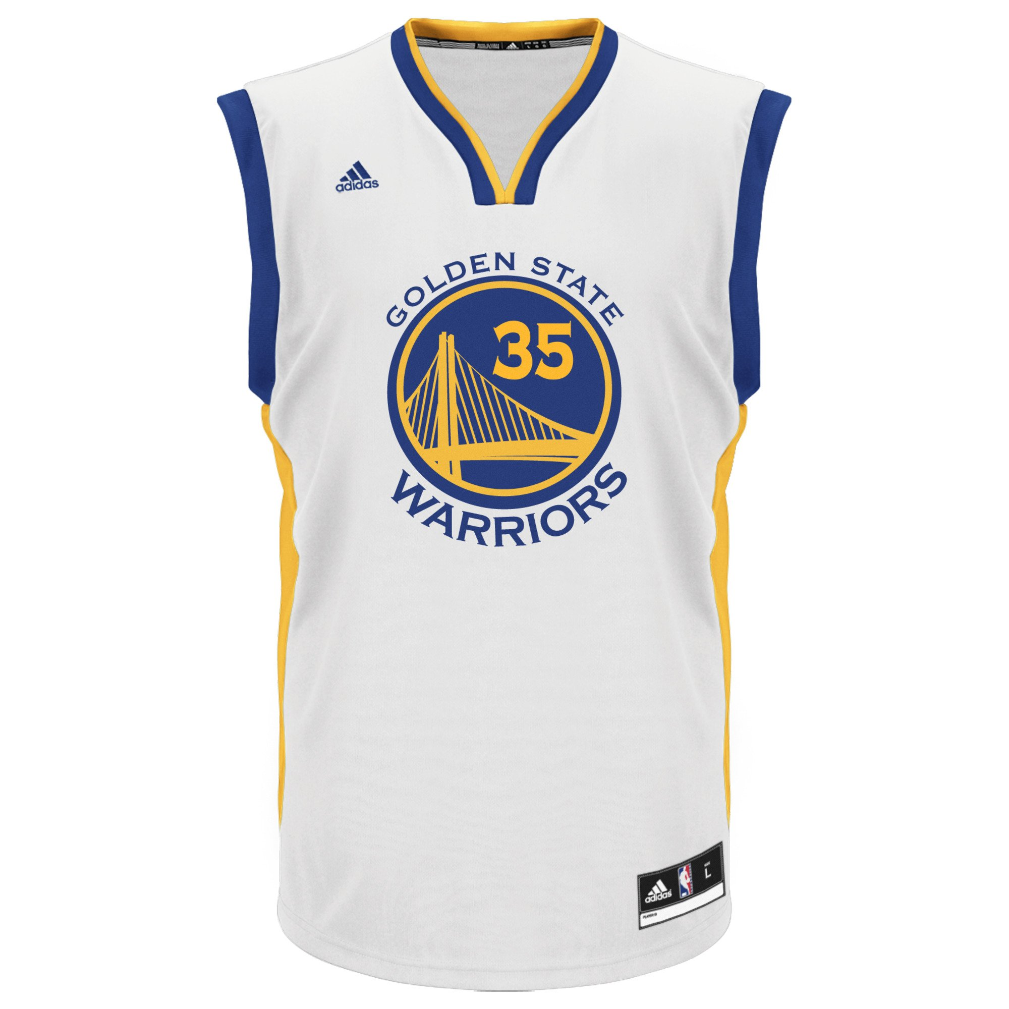 wholesale dealer d8ca6 118fa NBA Men's Golden State Warriors Kevin Durant Replica Player Road Jersey,  Large, White