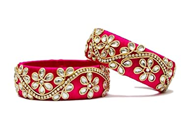 e07a4d3ac88 Buy Pink Bangle set Online at Low Prices in India   Amazon Jewellery ...