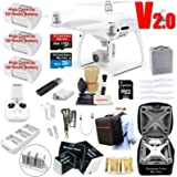 DJI Phantom 4 PRO V2.0 (V2) Drone Quadcopter Bundle Kit with 3 Batteries, 4K Professional Camera Gimbal & MUST HAVE Accessories