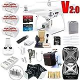 DJI Phantom 4 PRO V2.0 (V2) Drone Quadcopter Bundle Kit with 3 Batteries, 4K Professional Camera Gimbal & Must Have Accessories