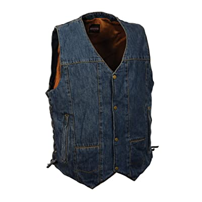 MILWAUKEE PERFORMANCE Men's 10 Pocket Denim Lace Vest